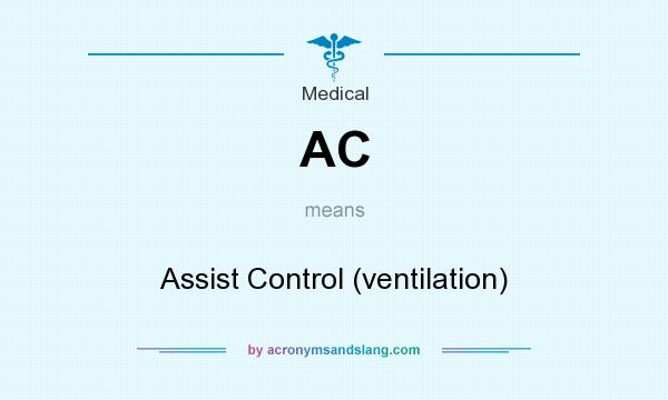 What does AC mean? It stands for Assist Control (ventilation)