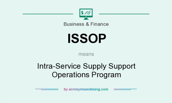 What does ISSOP mean? It stands for Intra-Service Supply Support Operations Program
