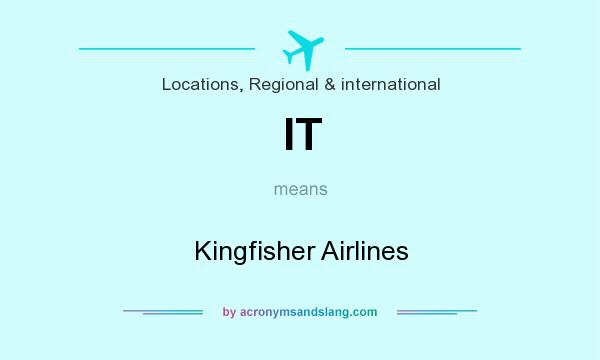 What does IT mean? It stands for Kingfisher Airlines