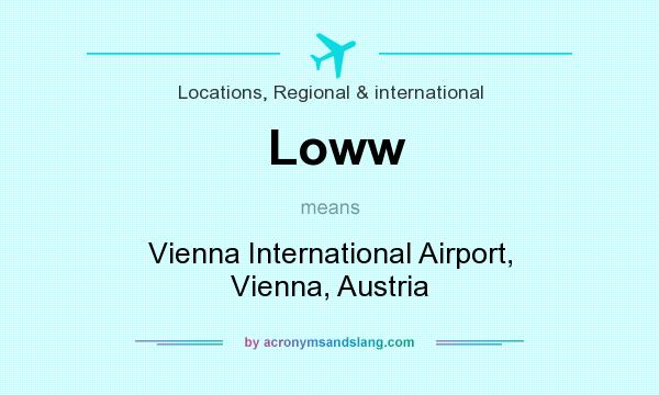 What does Loww mean? It stands for Vienna International Airport, Vienna, Austria