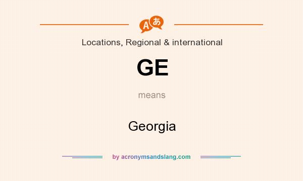 What does GE mean? It stands for Georgia