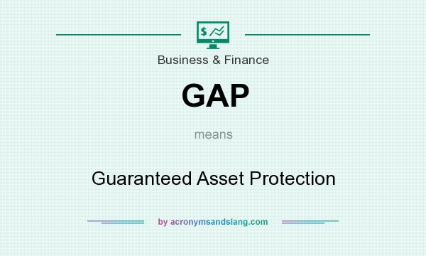 What does GAP mean? It stands for Guaranteed Asset Protection
