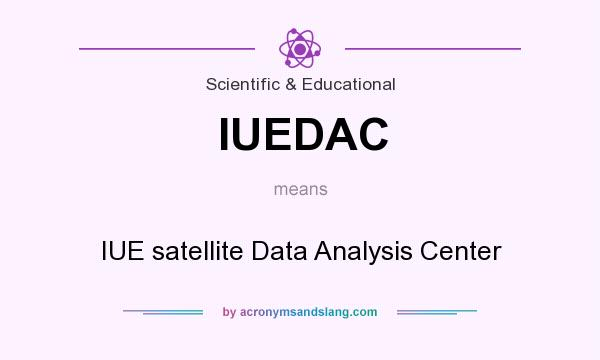 What does IUEDAC mean? It stands for IUE satellite Data Analysis Center
