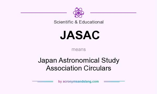 What does JASAC mean? It stands for Japan Astronomical Study Association Circulars