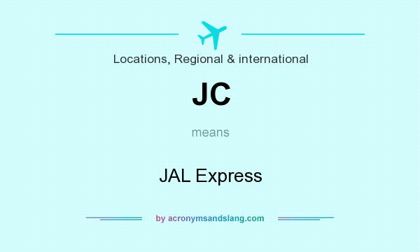 What does JC mean? It stands for JAL Express