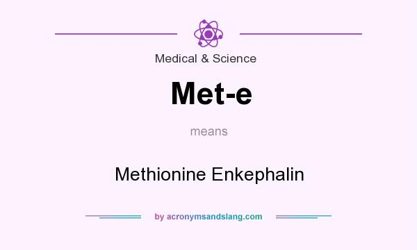 What does Met-e mean? It stands for Methionine Enkephalin