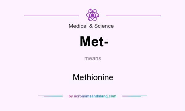 What does Met- mean? It stands for Methionine