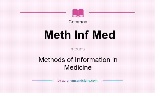 What does Meth Inf Med mean? It stands for Methods of Information in Medicine