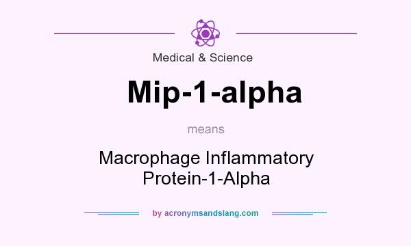 What does Mip-1-alpha mean? It stands for Macrophage Inflammatory Protein-1-Alpha