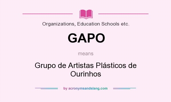 What does GAPO mean? It stands for Grupo de Artistas Plásticos de Ourinhos
