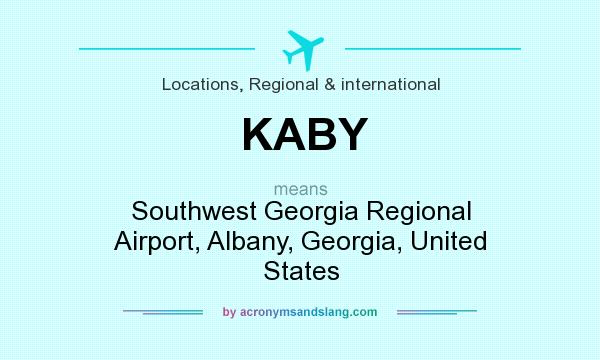 What does KABY mean? It stands for Southwest Georgia Regional Airport, Albany, Georgia, United States