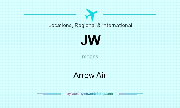 What does JW mean? It stands for Arrow Air
