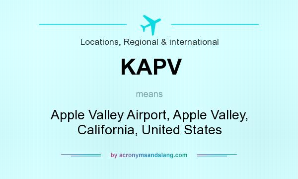 What does KAPV mean? It stands for Apple Valley Airport, Apple Valley, California, United States