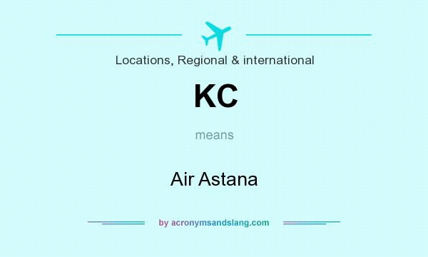 What does KC mean? It stands for Air Astana