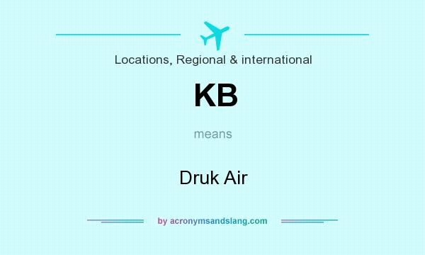 What does KB mean? It stands for Druk Air