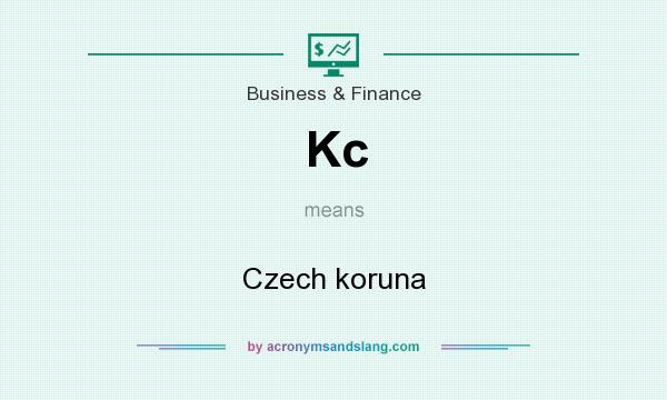 What does Kc mean? It stands for Czech koruna