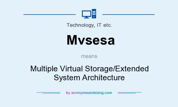 What does Mvsesa mean? It stands for Multiple Virtual Storage/Extended System Architecture