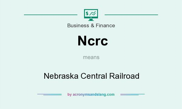 What does Ncrc mean? It stands for Nebraska Central Railroad