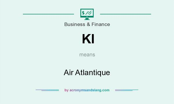 What does KI mean? It stands for Air Atlantique