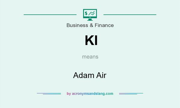 What does KI mean? It stands for Adam Air