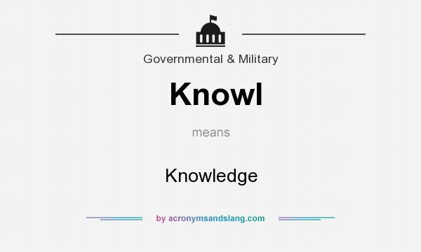 What does Knowl mean? It stands for Knowledge