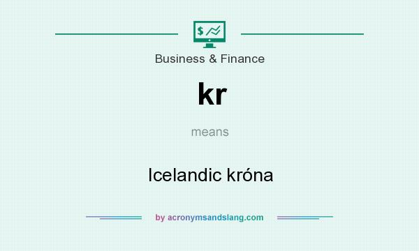 What does kr mean? It stands for Icelandic króna