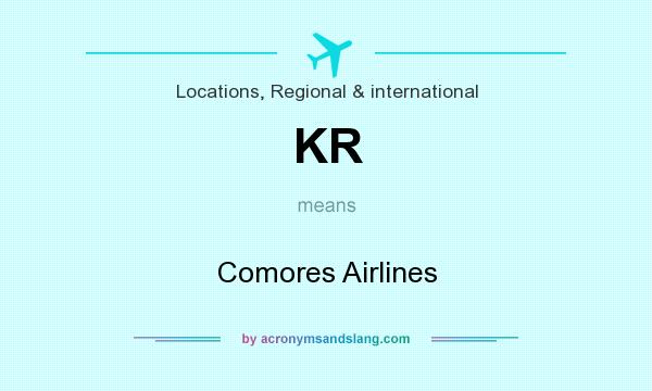 What does KR mean? It stands for Comores Airlines