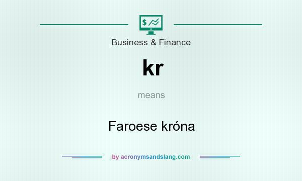 What does kr mean? It stands for Faroese króna
