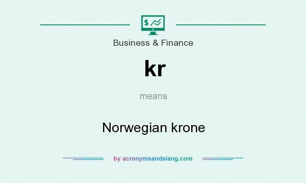 What does kr mean? It stands for Norwegian krone