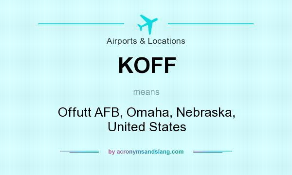 What does KOFF mean? It stands for Offutt AFB, Omaha, Nebraska, United States