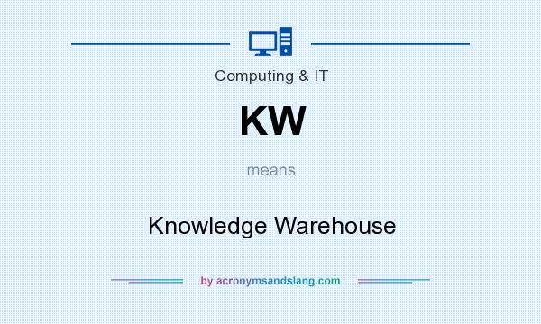 What does KW mean? It stands for Knowledge Warehouse