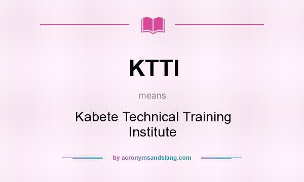 Mombasa Technical Training Institute Logo Ktti Kabete Technical