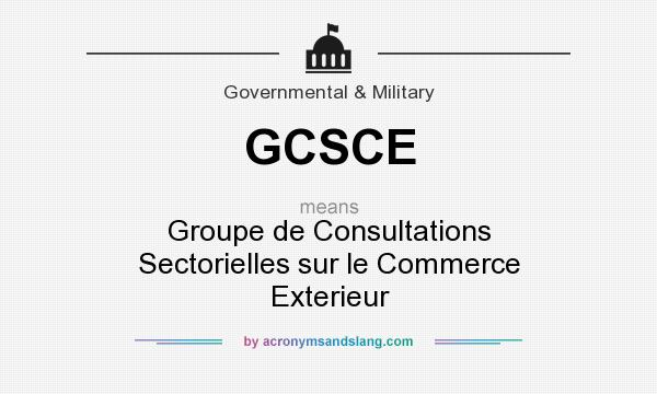 Gcsce groupe de consultations sectorielles sur le for Le commerce exterieur