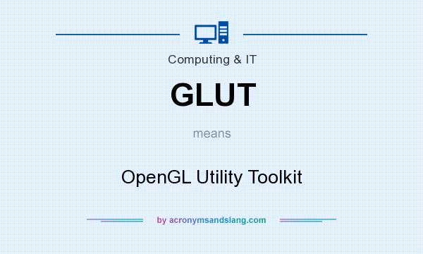 What does GLUT mean? It stands for OpenGL Utility Toolkit