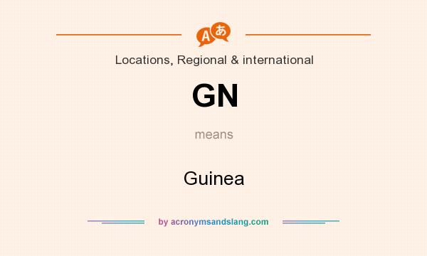 What does GN mean? It stands for Guinea