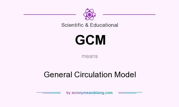 What does GCM mean? It stands for General Circulation Model