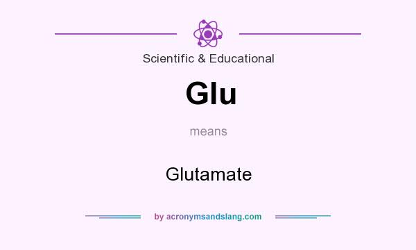What does Glu mean? It stands for Glutamate