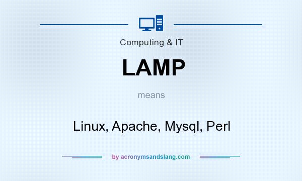 What does LAMP mean? It stands for Linux, Apache, Mysql, Perl
