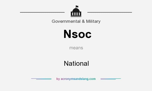 What does Nsoc mean? It stands for National