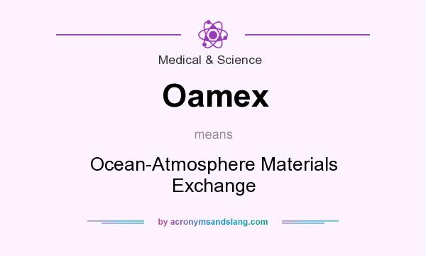 What does Oamex mean? It stands for Ocean-Atmosphere Materials Exchange