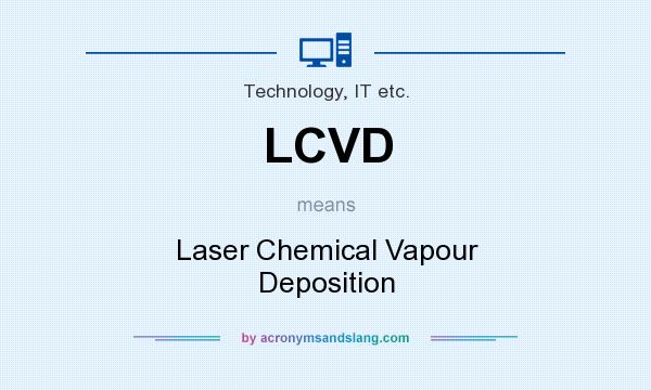 What does LCVD mean? It stands for Laser Chemical Vapour Deposition