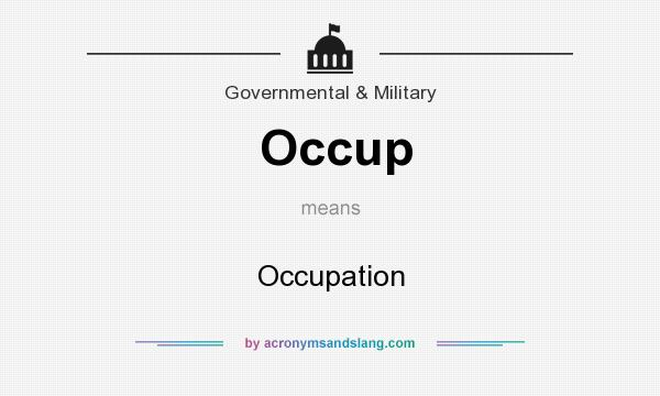 What does Occup mean? It stands for Occupation