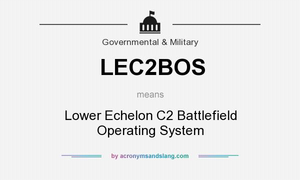 What does LEC2BOS mean? It stands for Lower Echelon C2 Battlefield Operating System