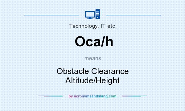 What Does Ocah Mean Definition Of Ocah Ocah Stands For - Altitude and height