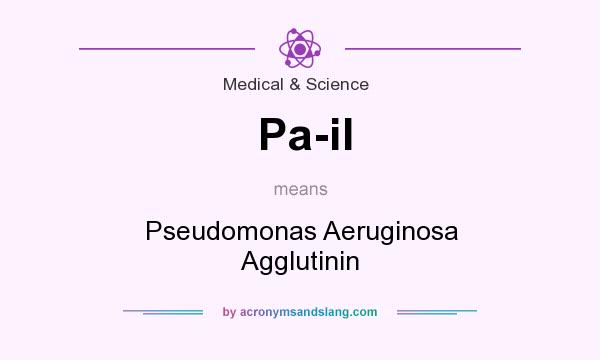 What does Pa-il mean? It stands for Pseudomonas Aeruginosa Agglutinin