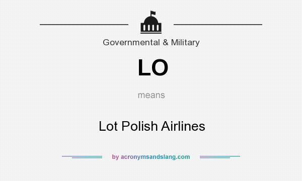What does LO mean? It stands for Lot Polish Airlines