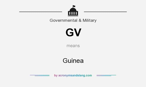 What does GV mean? It stands for Guinea