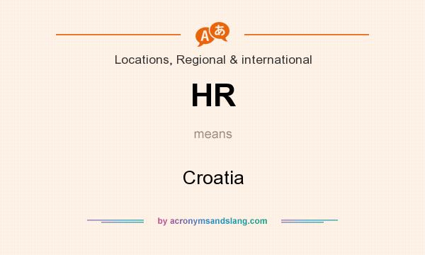 What does HR mean? It stands for Croatia