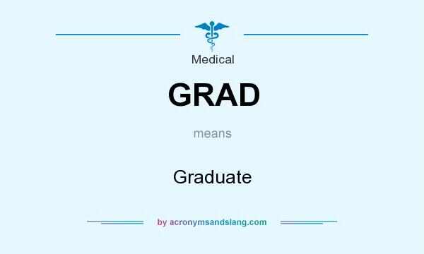 What does GRAD mean? It stands for Graduate