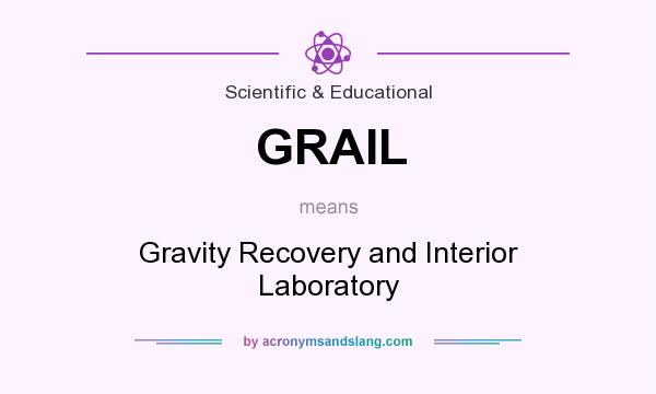 What does GRAIL mean? It stands for Gravity Recovery and Interior Laboratory